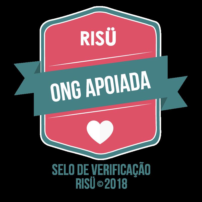 Selo de verificação Risu 2018 de ONG apoiada.