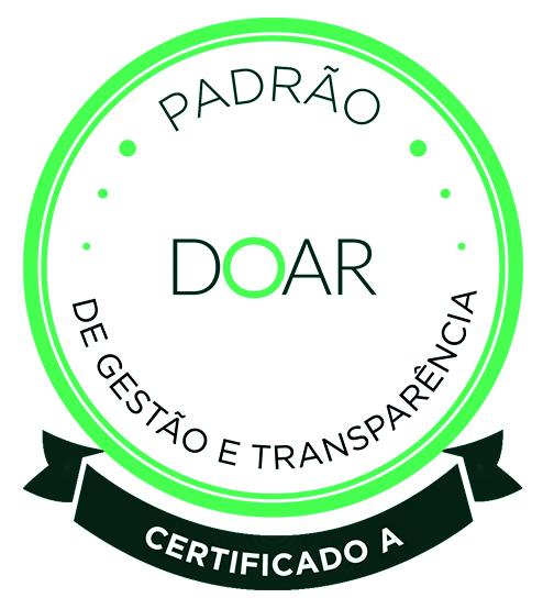 Logo do certificado padrão de gestão e transparência - Doar