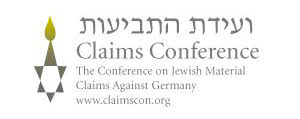 Logo Claims conferencia - the conference of jewish material claims against germany. www.claimscon.org