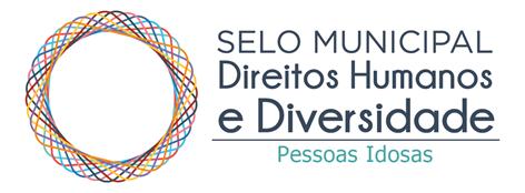 Logo do selo municipal direitos humanos e diversidade - pessoas idosas.